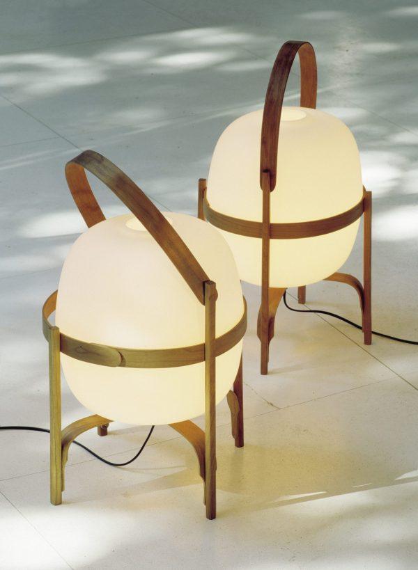 Cesta Vloerlamp Cesta Lamp Design Miguel Mila Santa Cole