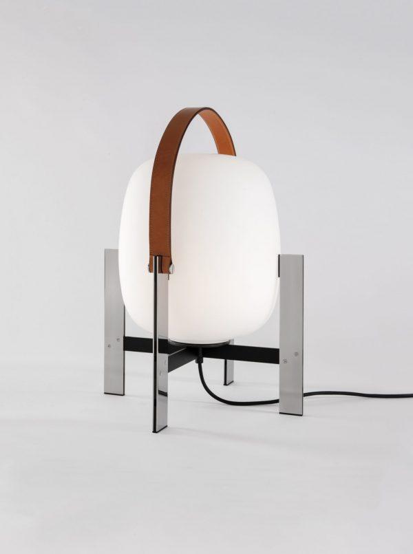 Cesta Metalica Vloerlamp Design Miguel Mila voor Santa en Cole