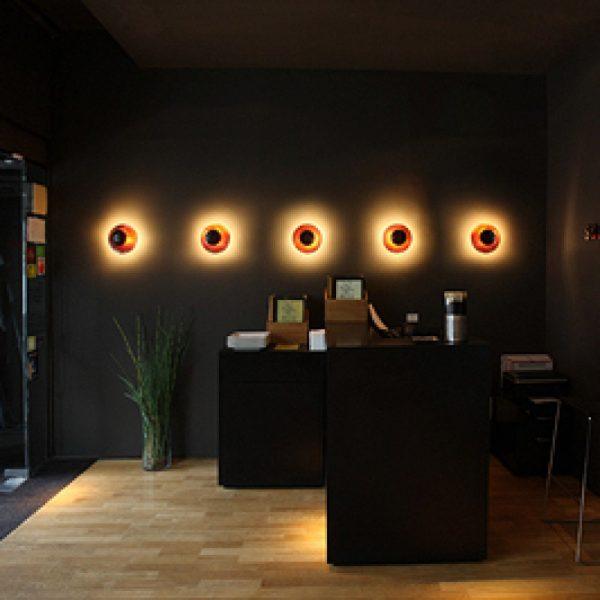 Funnel 2012 LED Wandlamp Design Ramon Benedito voor Vibia