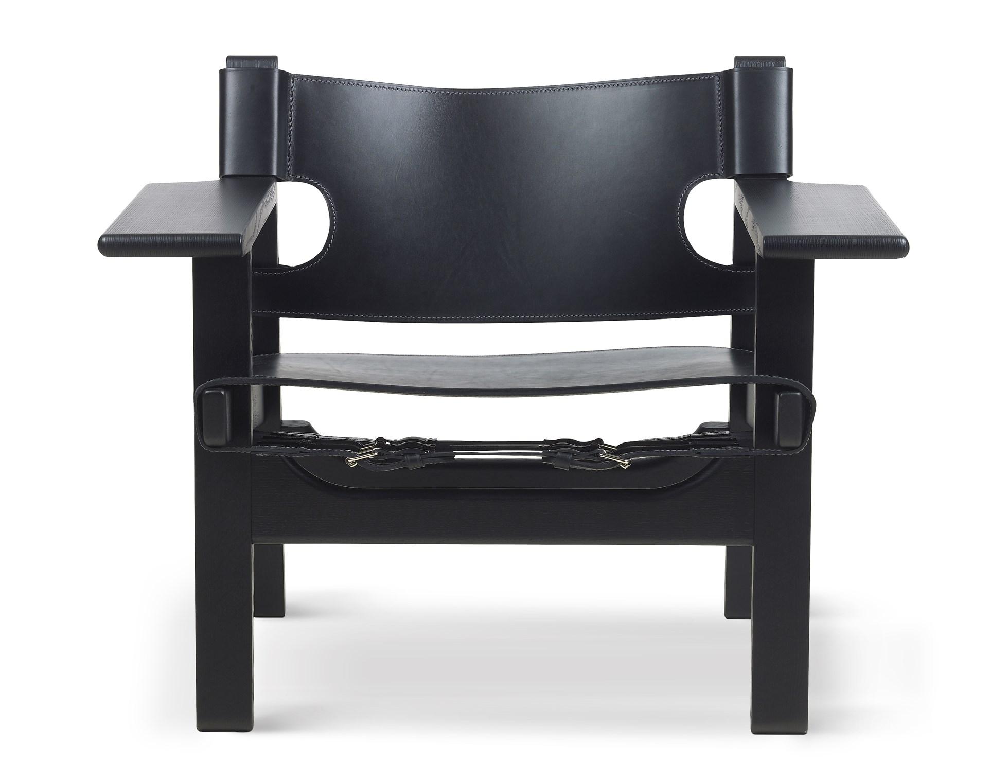Fauteuil Leer Design.Spanish Chair Fauteuil Design Borge Mogensen Fredericia