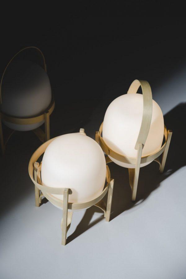 Cestita Bateria Tafellamp Design Miguel Mila Santa en Cole