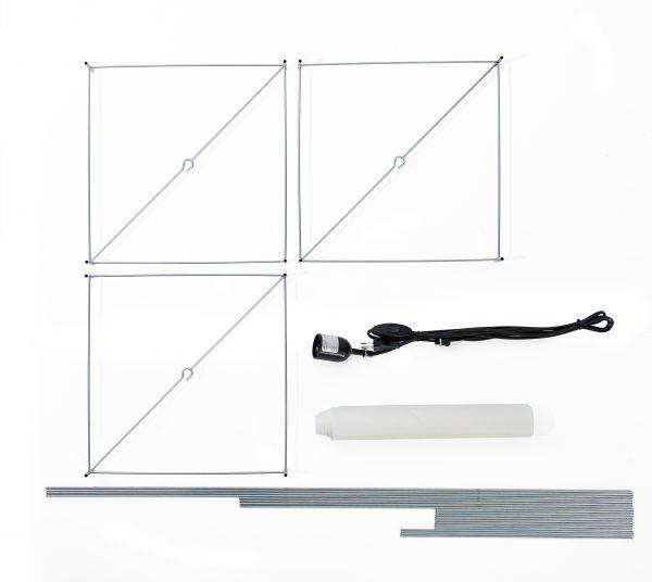 Lotek Frame Square Lotek Frame Vierkant voor Lotek Lamp Classic design Benno Premsela