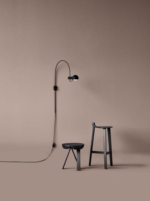 Domo Wall Lamp Domo Wandlamp Design Joe Colombo door Karakter Copenhagen