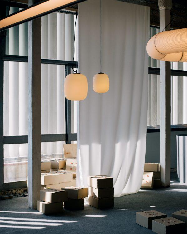 Globo Cesta Pendant Globo Cesta Hanglamp Design Miguel Mila voor Santa Cole