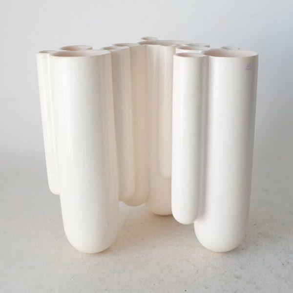 Dip Vaas Wit Dip Vase White Design Robert Bronwasser voor Goods