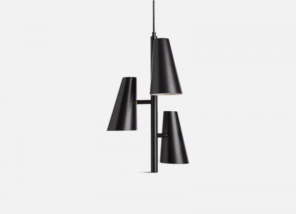 Cono Kroonluchter Hanglamp 3 kappen Cono Pendant light Design Benny Frandsen voor Woud
