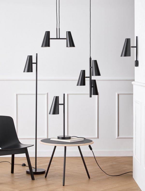 Cono Hanglamp 3 kappen Cono Pendant light Design Benny Frandsen voor Woud