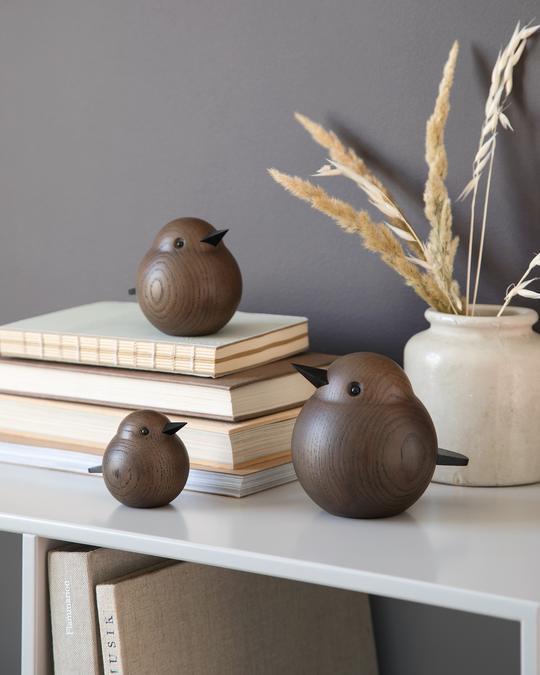 Eiken houten Mus Sparrow design Kristian Jakobsen voor Novoform