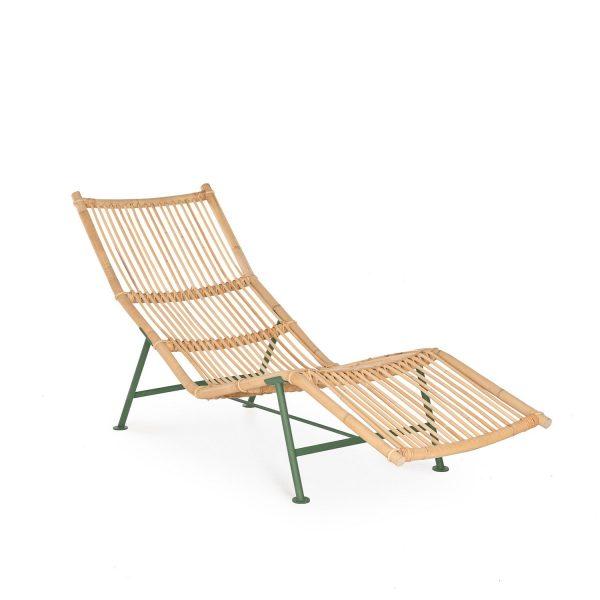Cane Divan Ligstoel Design Simo Heikkilä voor Lensvelt