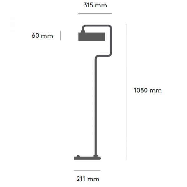 Petite Machine Vloerlamp Floor Design Flemming Lindholdt voor Made By Hand